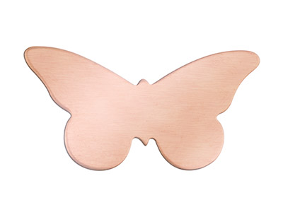 Copper Blanks Butterfly Pack of 6 35mm X 0.9mm