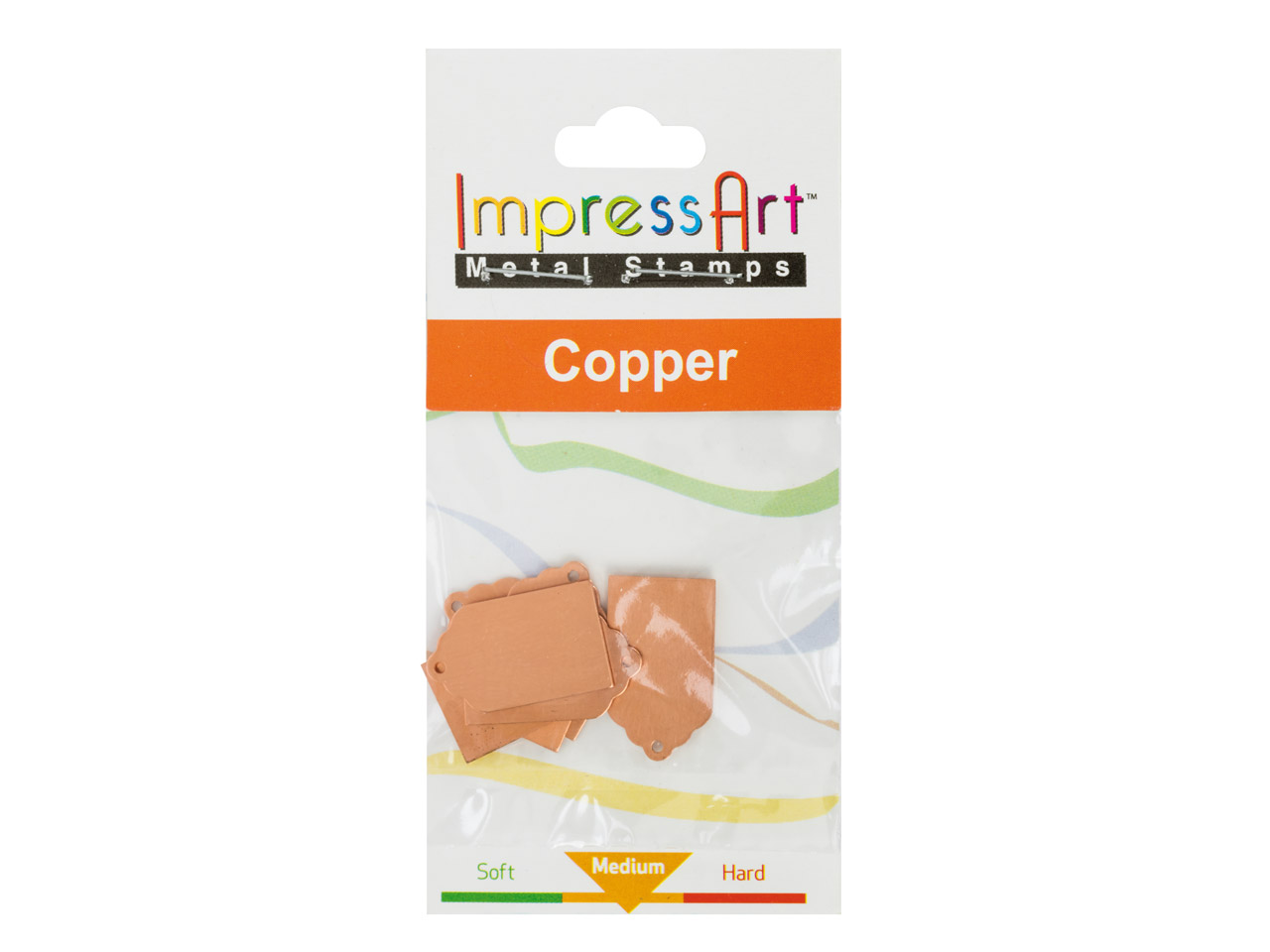 Impressart Copper Blanks Gift Tag  22x13mm Pack of 6