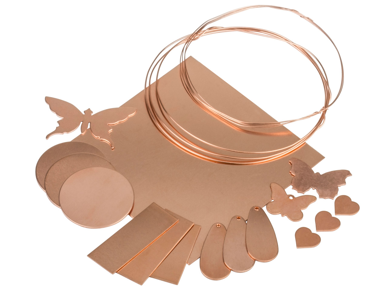 Copper Metal Starter Set Assorted  Pieces