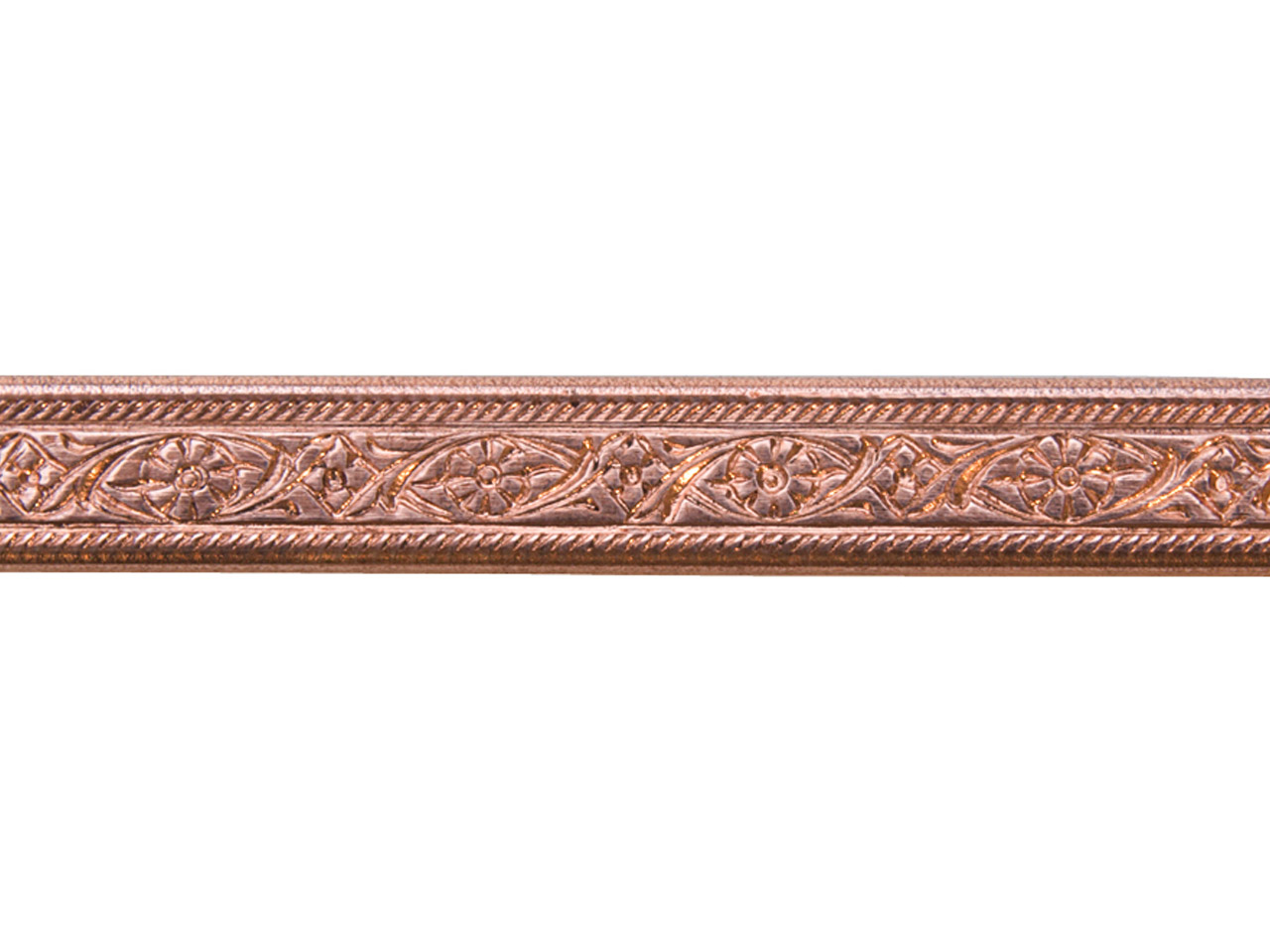 Copper Mini Floral Patterned Wire  1.4mm X 5.2mm X 910mm