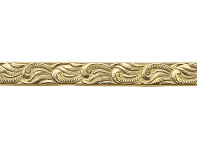 Brass Scroll Pattern Wire 1.3mm X  5.3mm X 910mm