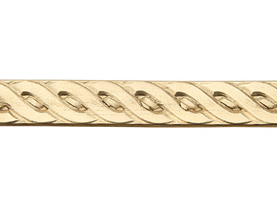 Brass Rope Braid Pattern Wire 0.8mm X 6.4mm X 910mm