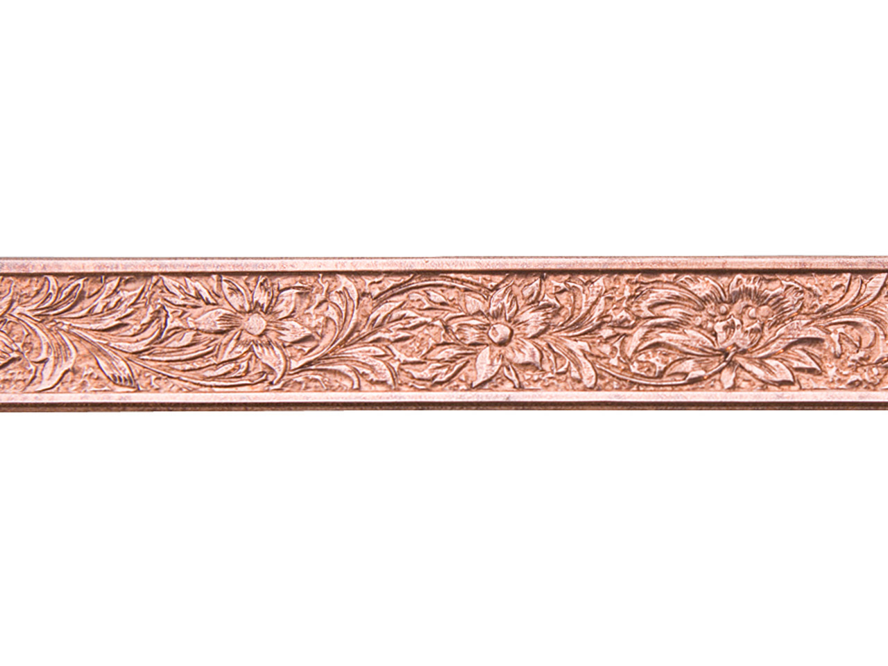 Copper Flower Patterned Wire 0.9mm X 6.4mm X 910mm