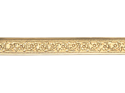 Brass Garden Flower Pattern Wire   0.5mm X 7.9mm X 910mm