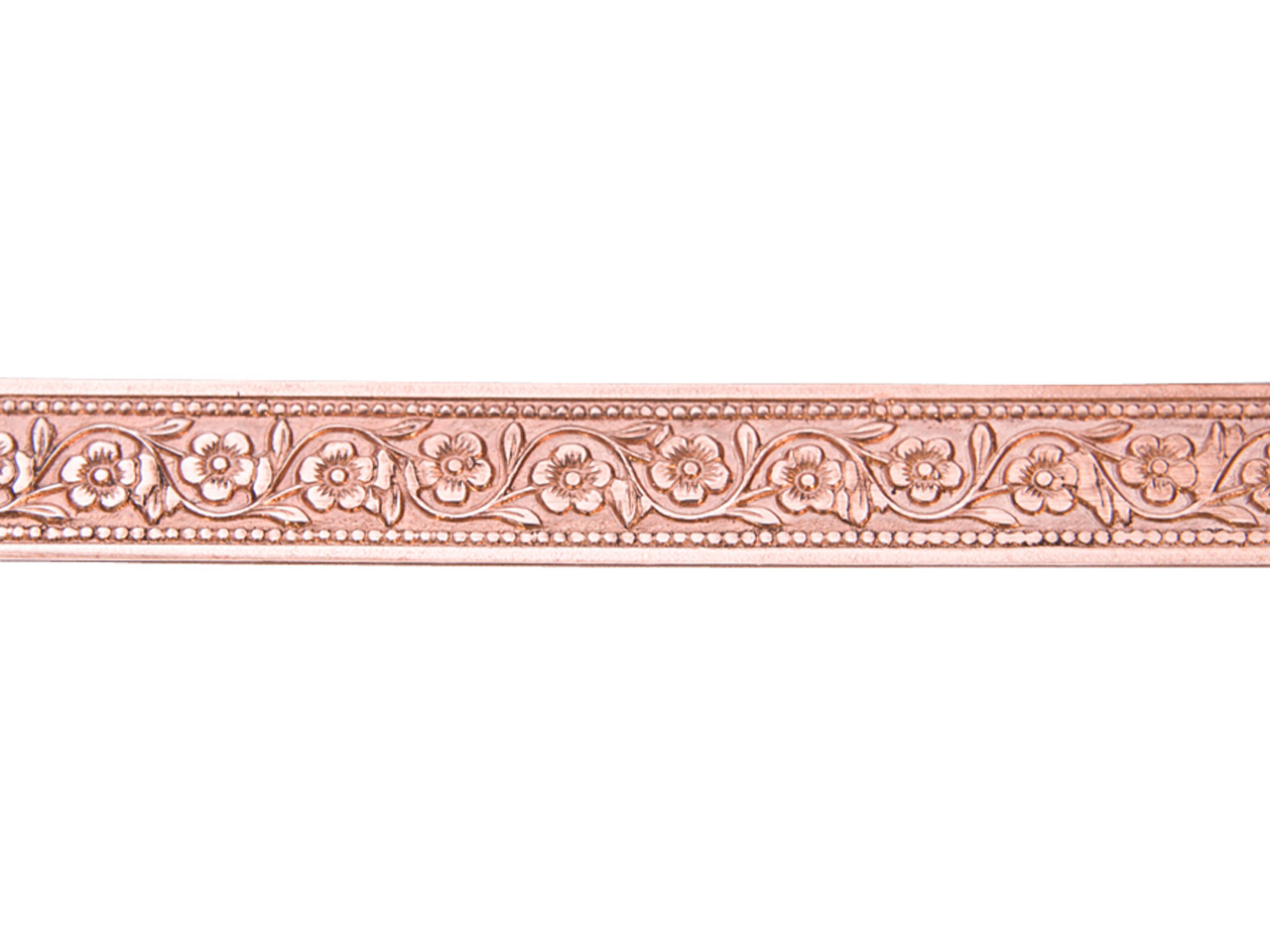 Copper Garden Flower Patterned Wire 0.5mm X 7.9mm X 910mm