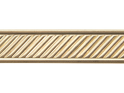 Brass Diagonal Lines Pattern Wire  1.3mm X 11.1mm X 910mm