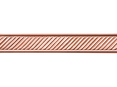 Copper Diagonal Lines Patterned    Wire 1.3mm X 11.1mm X 910mm