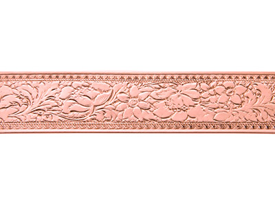 Copper Wide Fancy Floral Pattern Wire