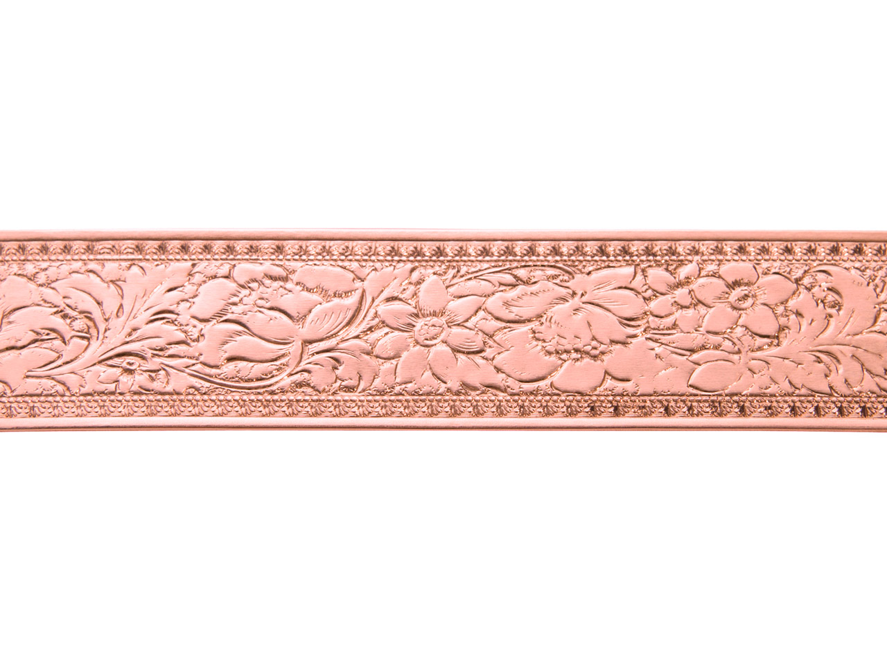 Copper Wide Fancy Floral Patterned Wire 0.5mm X 19.1mm X 910mm