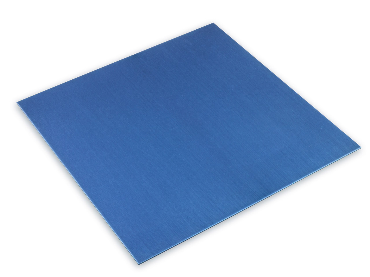 Anodised Coloured Blue Aluminium   Sheet 100x100x0.7mm