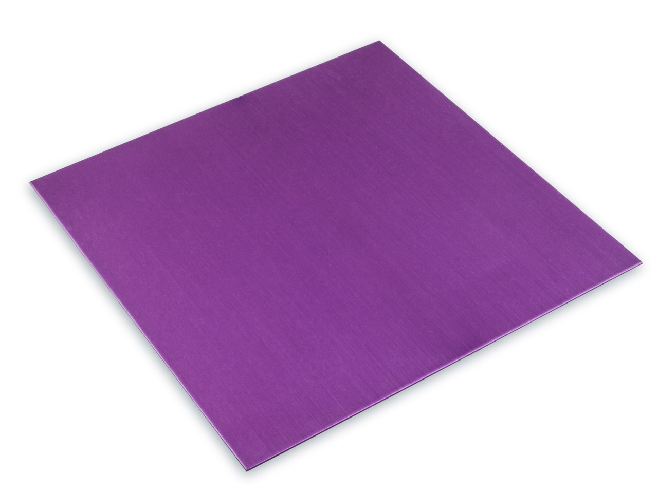 Anodised Coloured Purple Aluminium Sheet 100x100x0.7mm