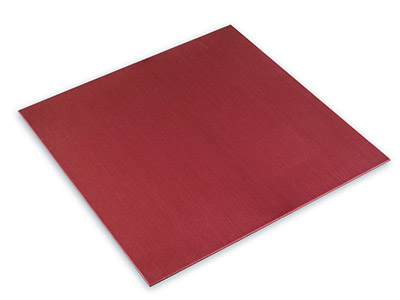 Red Aluminium Sheet 100x100mm