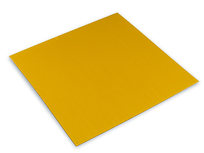 Yellow Aluminium Sheet 100x100mm