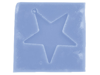Silicone Star Decoration Mould For Resin Casting 7x7.5cm