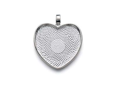 Silver-Plated-Pendant-Bezel-Heart--Small