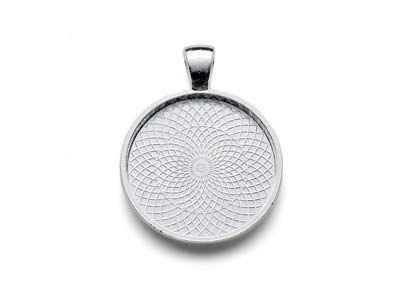 Silver-Plated-Pendant-Bezel-Round--Small
