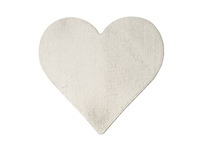 Impressart Aluminium Blanks Heart  19.0mm X 0.8mm Pack of 17