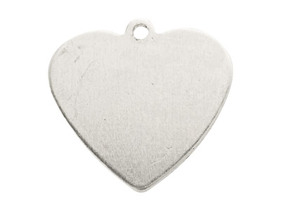 Impressart Aluminium Blanks Heart  15.9mm X 0.8mm Pack of 20 Pierced Top Ring