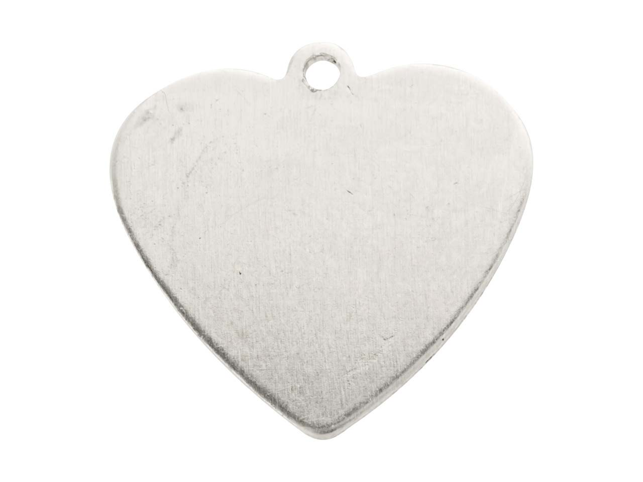 Impressart Aluminium Blanks Heart  15.9mm X 0.8mm, Pack of 20 Pierced Top Ring