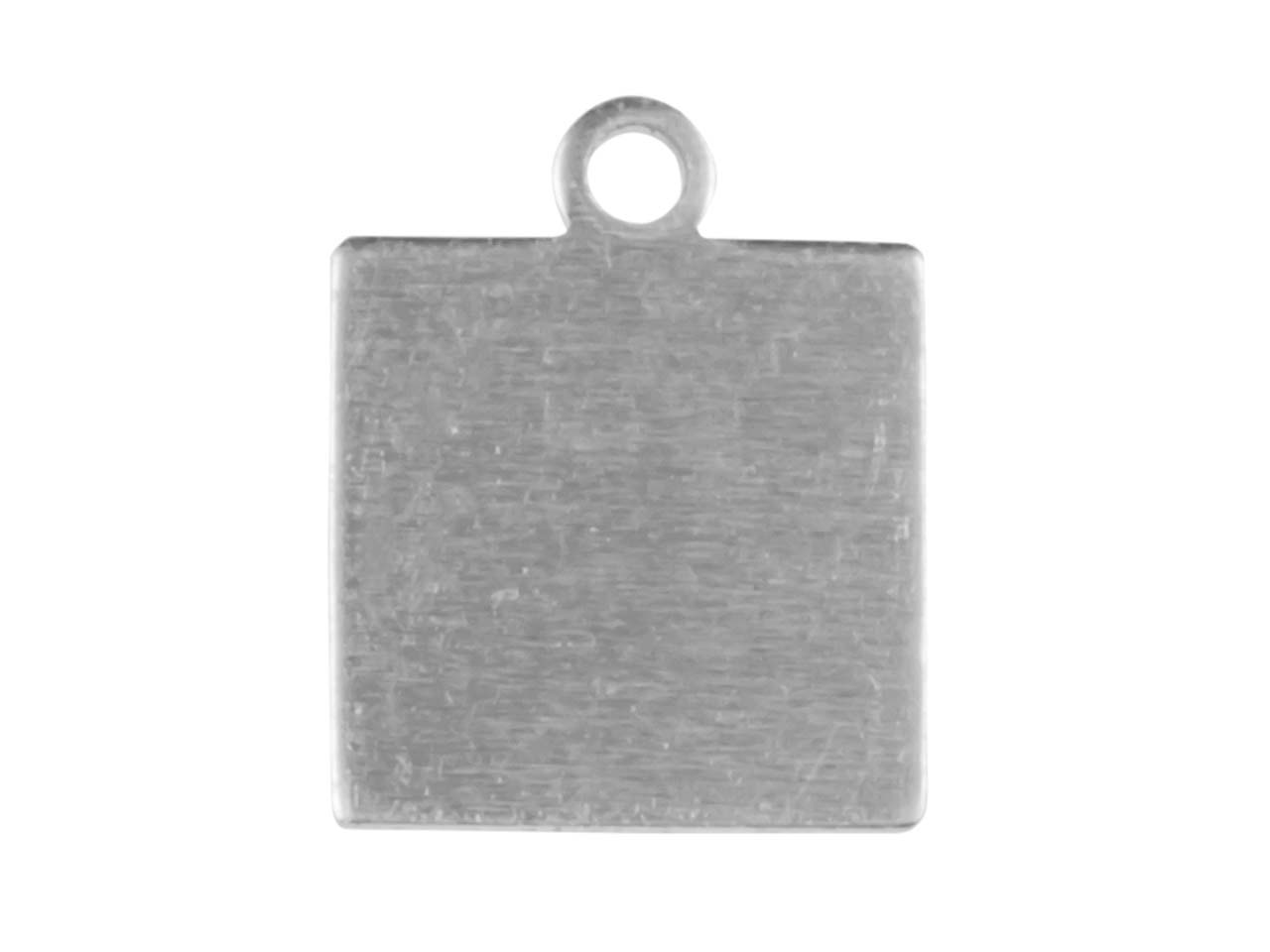 Impressart Aluminium Small Square  Tag 10mm Stamping Blank Pack of 20