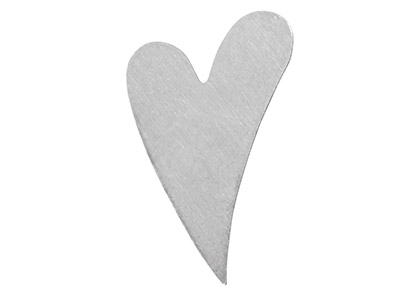 Impressart Aluminium Blanks Swirly Heart 31.8mm X 0.8mm Pack of 18
