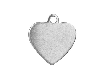 Impressart Aluminium Blanks Mini   Heart 12.7mm X 0.8mm With Pierced  Top Ring Pack of 20