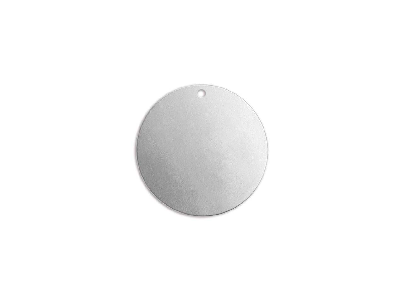 Impressart Aluminium Round Disc    19mm Stamping Blank Pack of 15     Pierced Hole