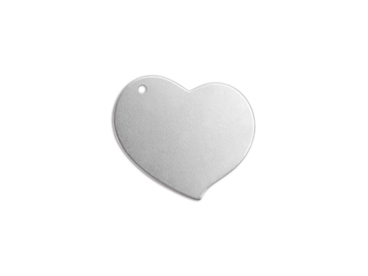 Impressart Aluminium Swirly Heart  19mm Stamping Blank Pack of 15     Pierced Hole