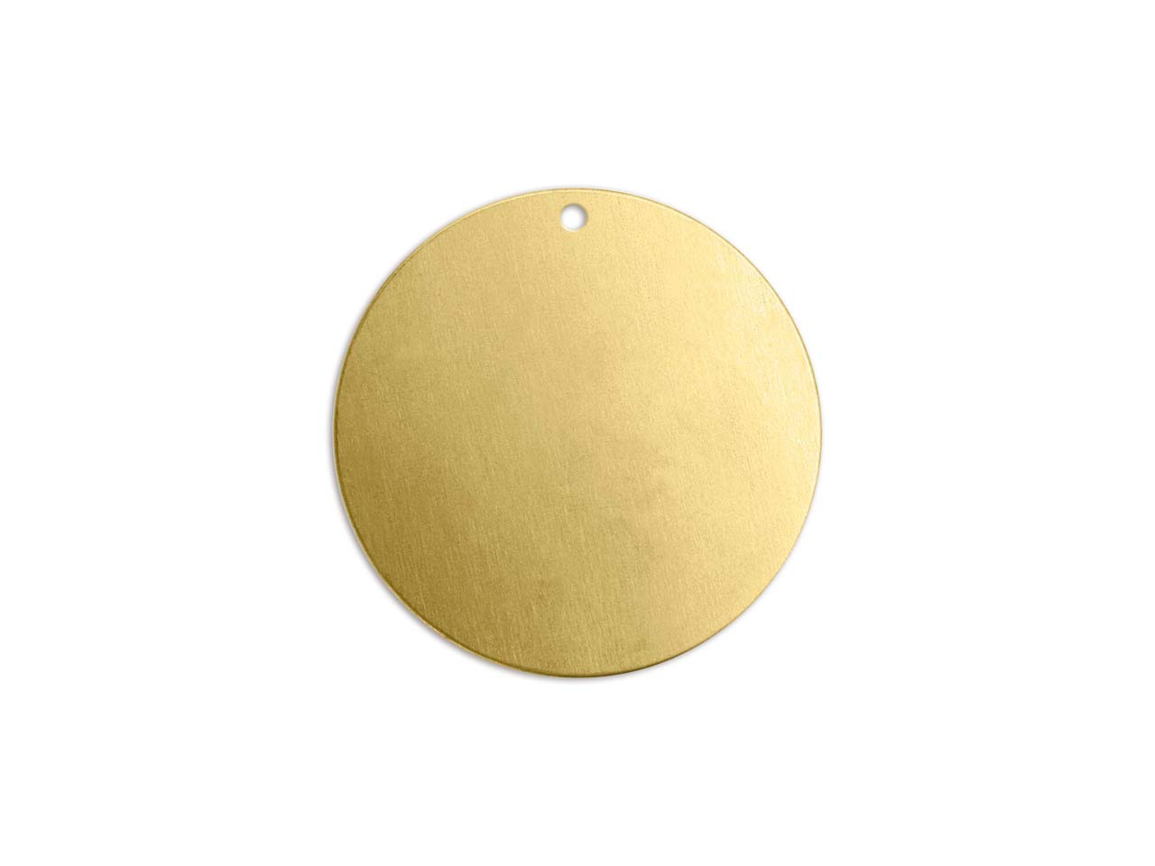 Impressart Brass Round Disc 25mm   Stamping Blank Pack of 4 Pierced   Hole