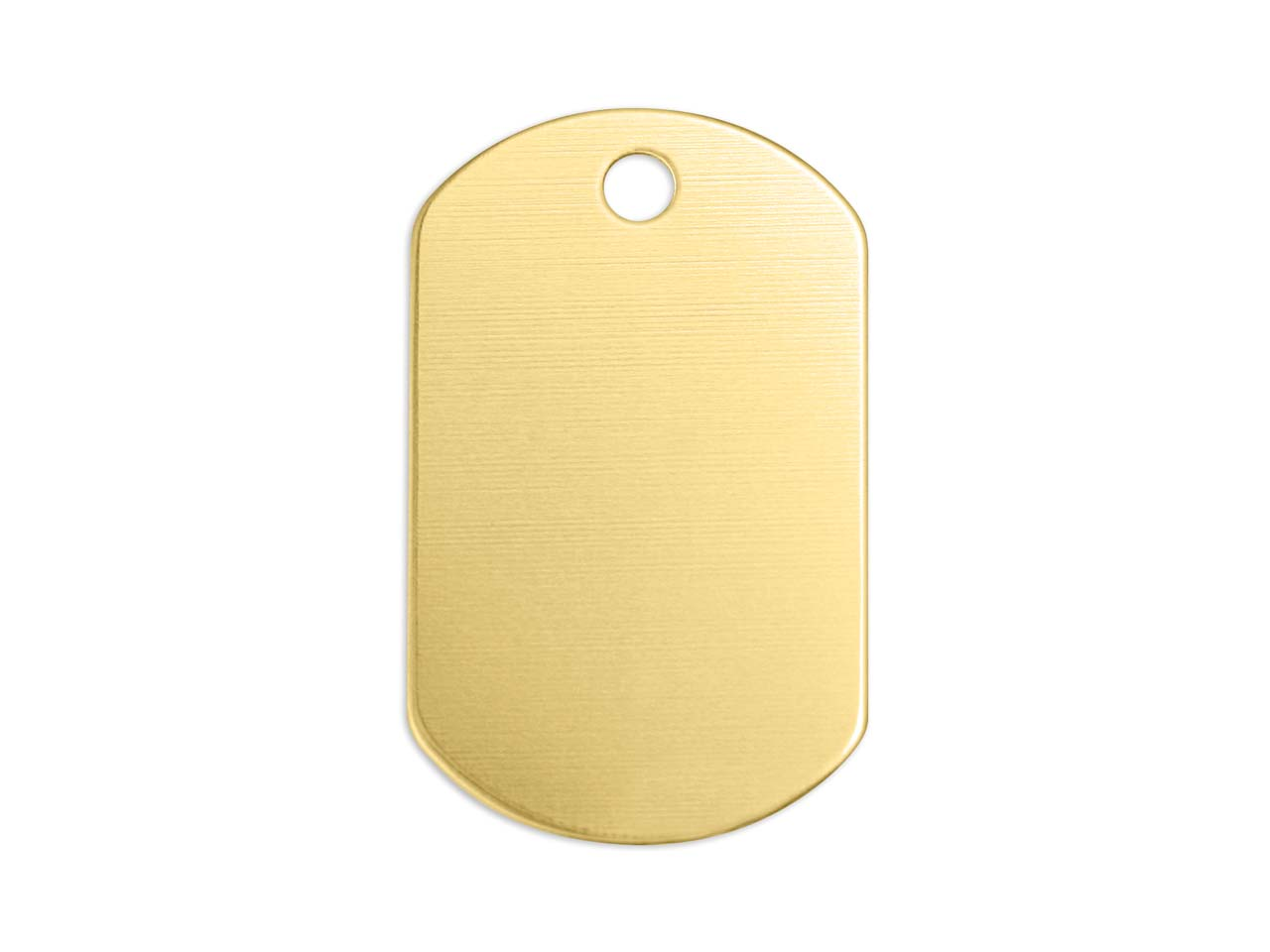Impressart Brass Dog Tag 32x19mm   Stamping Blank Pack of 4