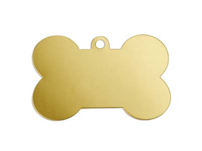 Impressart Brass Dog Bone 41x19mm  Stamping Blank Pack of 4