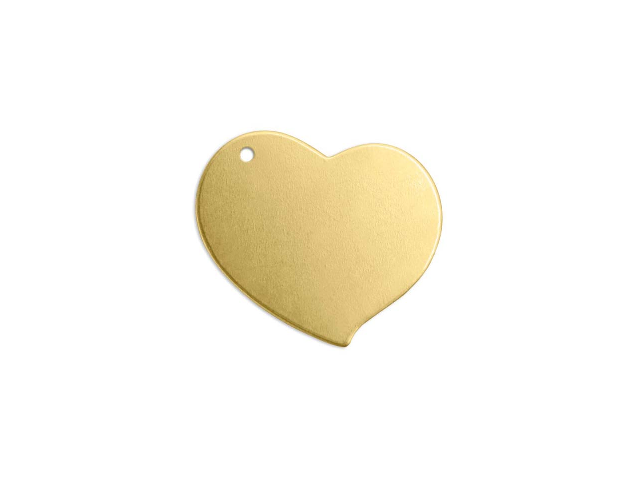 Impressart Brass Heart 19mm        Stamping Blank Pack of 7 Pierced   Hole