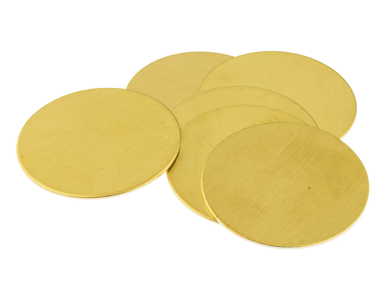 Brass Discs Round Pack of 6, 38mm