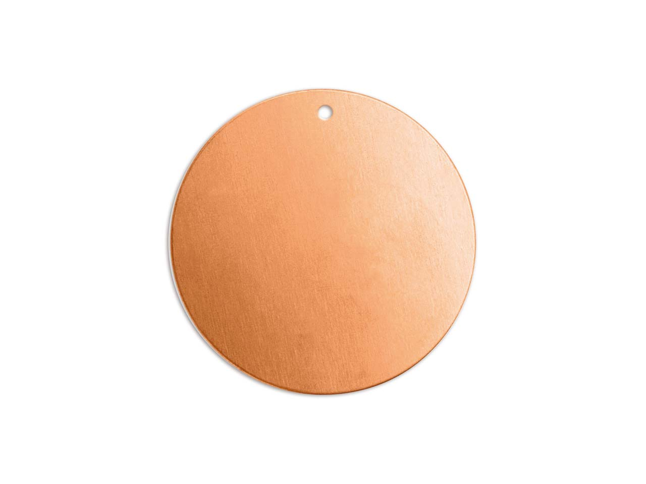 Impressart Copper Round Disc 32mm  Stamping Blank Pack of 2 Pierced   Hole