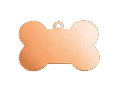 Impressart Copper Dog Bone 41x19mm Stamping Blank Pack of 2