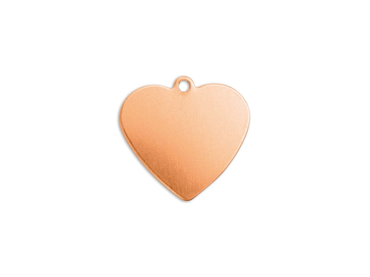 Impressart Copper Heart 16mm       Stamping Blank Pack of 6