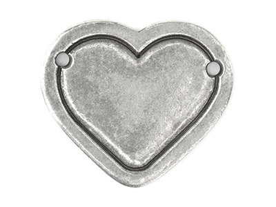 Impressart Pewter Heart Border     28.6x1.3mm Stamping Blank