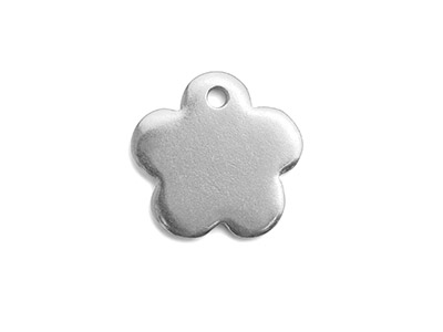 Impressart Pewter 5 Petal Flower    19.1x1.3mm Stamping Blank Pack of 2