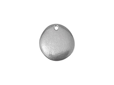 Impressart Pewter Riverstone 19mm  Stamping Blank Pack of 2 Pierced   Hole