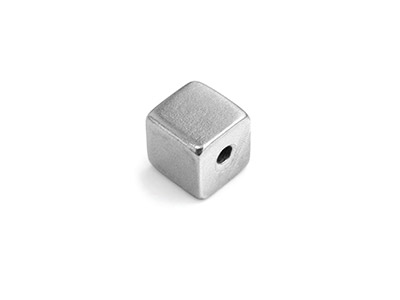 Impressart Pewter Cube 9.5x9.5mm   Stamping Blank Pack of 2