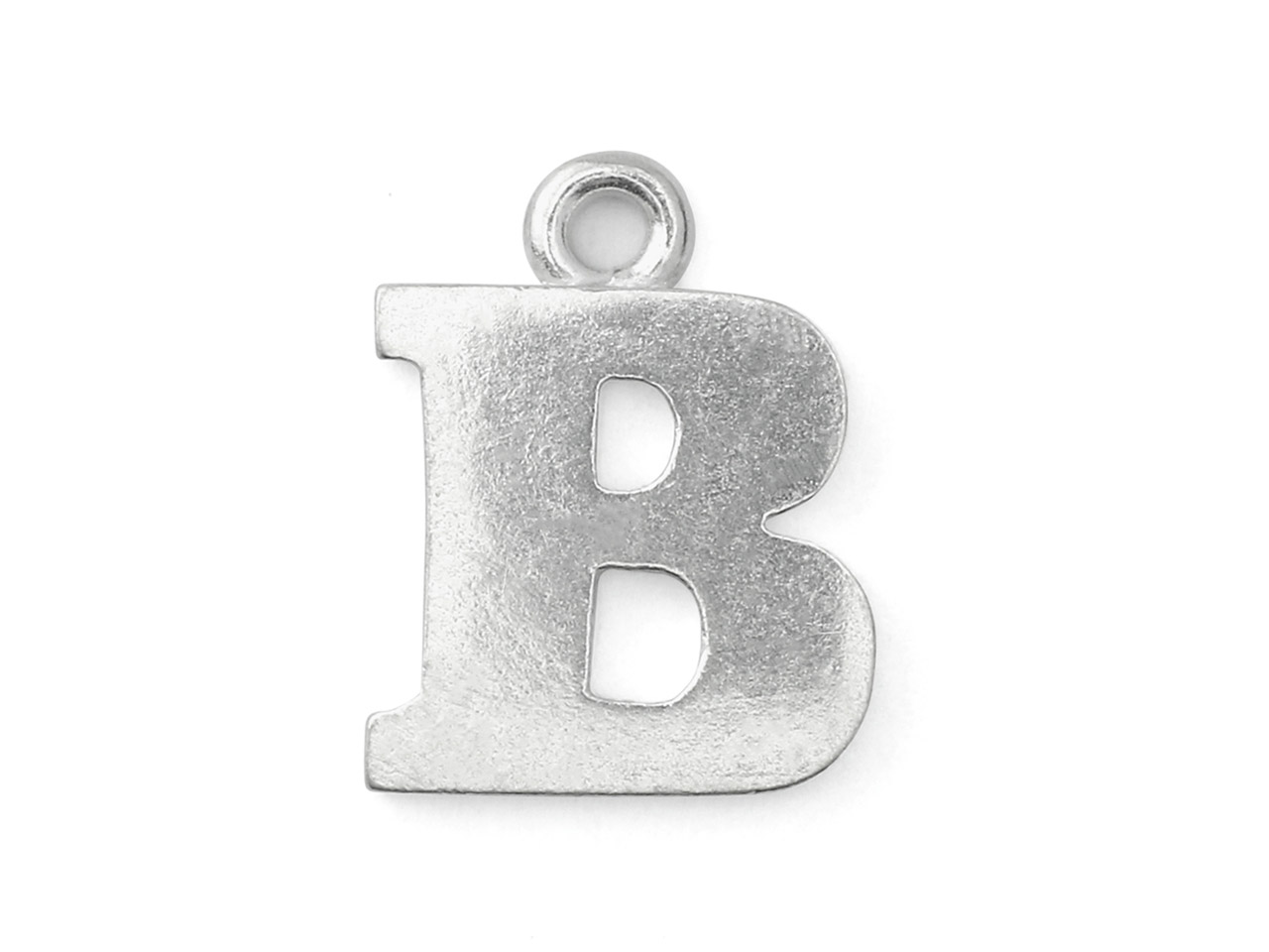 Impressart Pewter B Letter Charm   19.1x1.3mm Stamping Blank