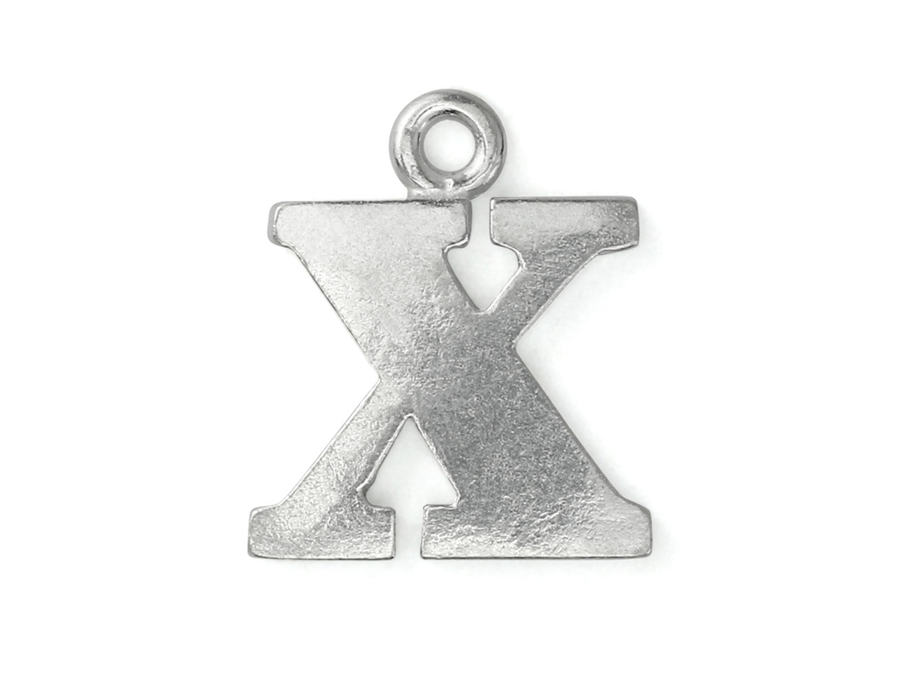 Impressart Pewter X Letter Charm   19.1x1.3mm Stamping Blank