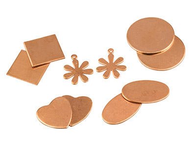 Ocean Theme Shapes Copper Blanks Mixed Set