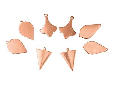 Copper Blanks Mixed Set, Mixed     Drops