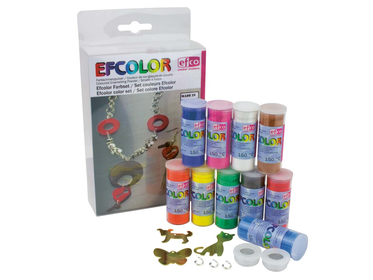 Efcolor Enamel Starter Set Of 10   10ml Pots