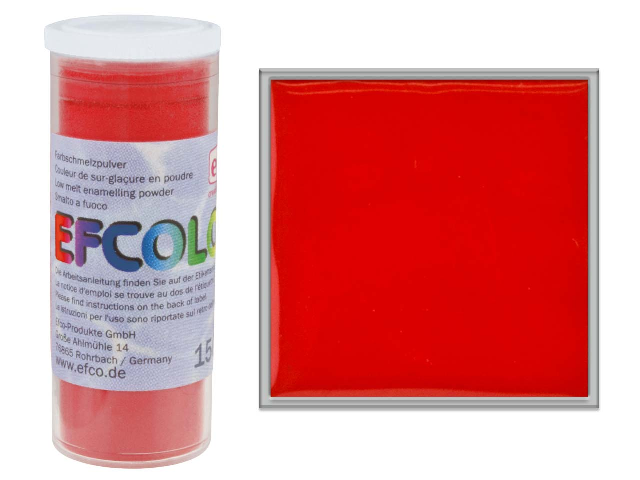 Efcolor Enamel, Red, 10ml