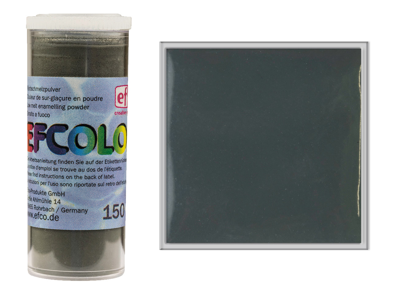 Efcolor Enamel Dark Grey 10ml