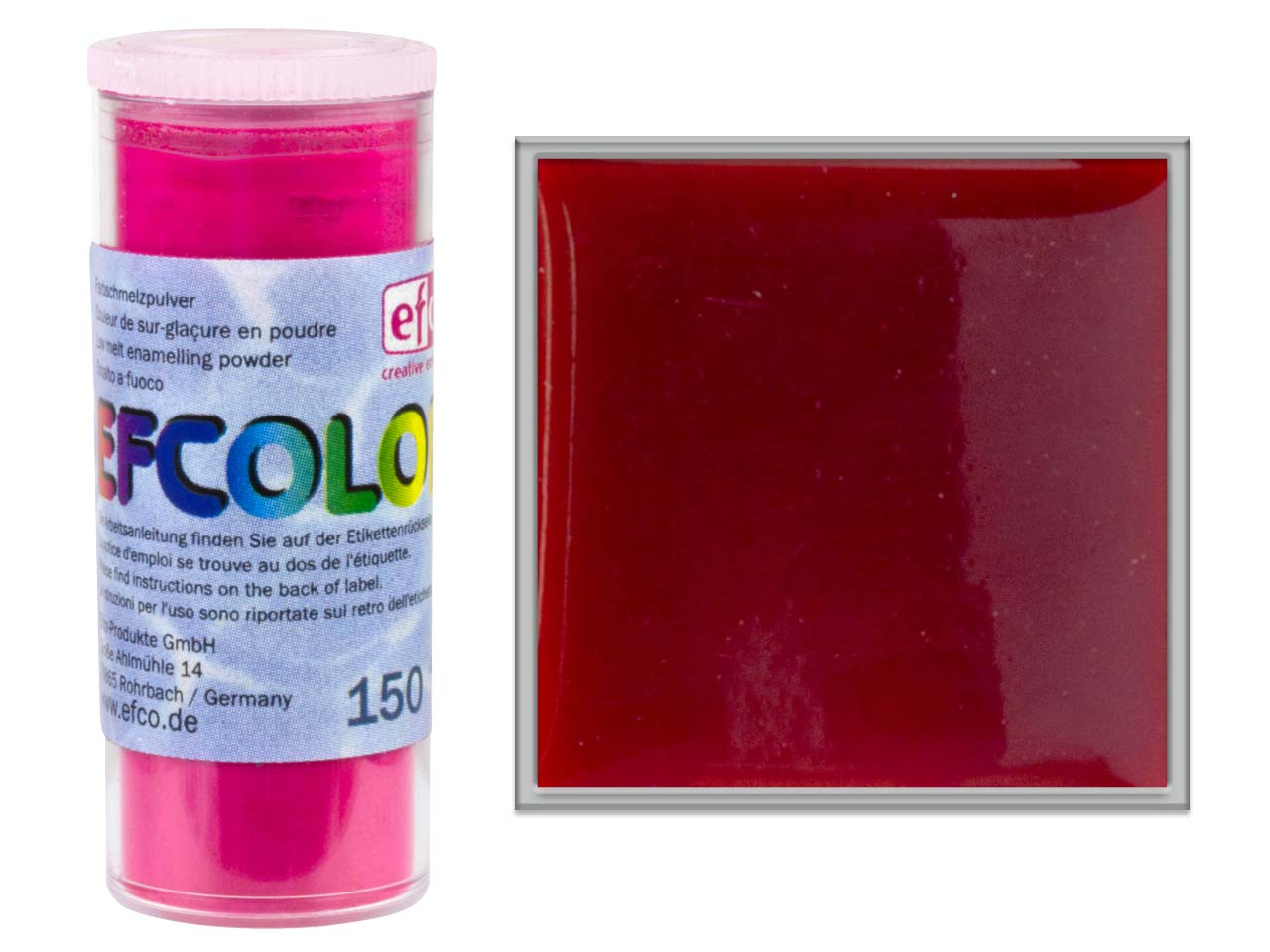Efcolor Enamel, Transparent Red,   10ml
