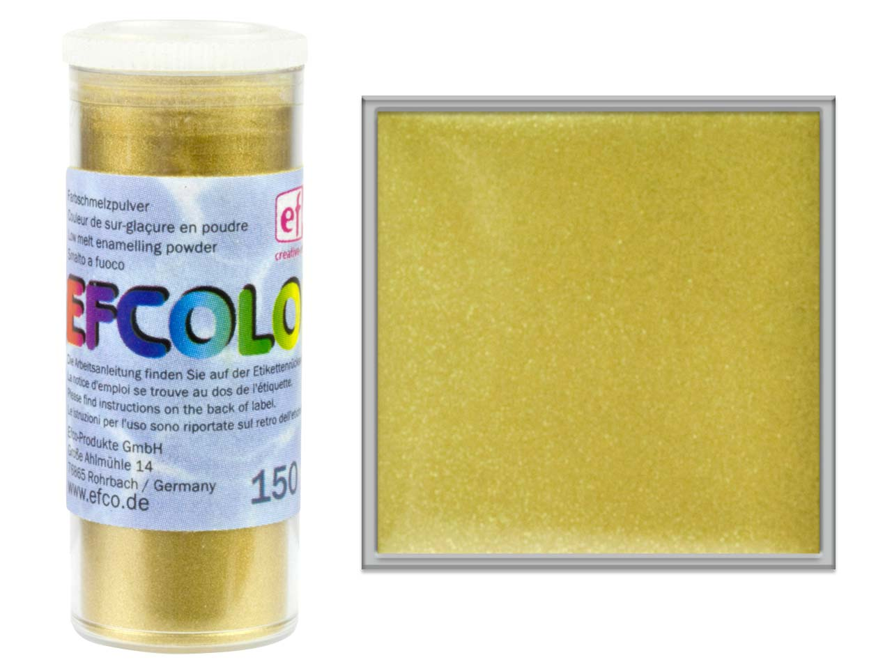 Efcolor Enamel Metallic Gold 10ml