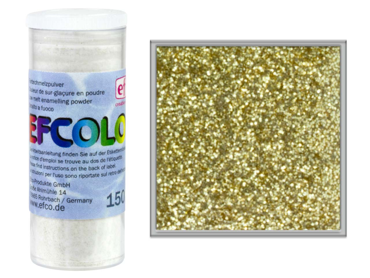 Efcolor Enamel Glitter Gold 10ml
